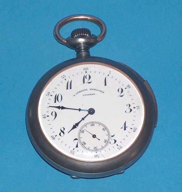 1499: Early E. Gubelin ¼ hour repeater Pocket Watch