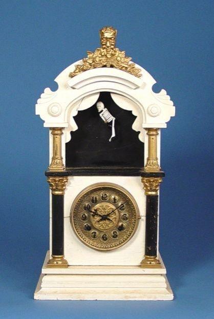 1714: Rare New Haven Dancing Skeleton Clock