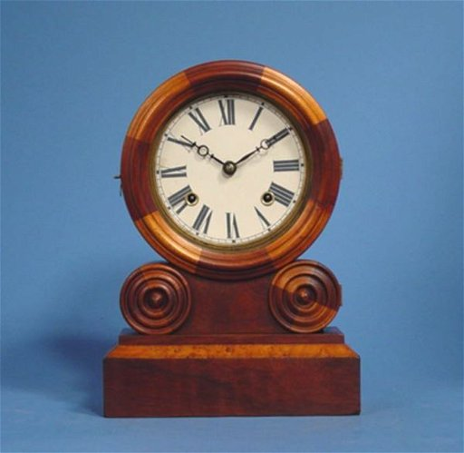 1756: Ingraham Grecian Mosaic Mantel Clock