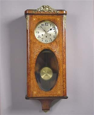 Gustav Becker Burlwood Wall Clock