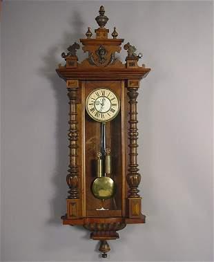 Gustav Becker Antique Regulator Wall Clock