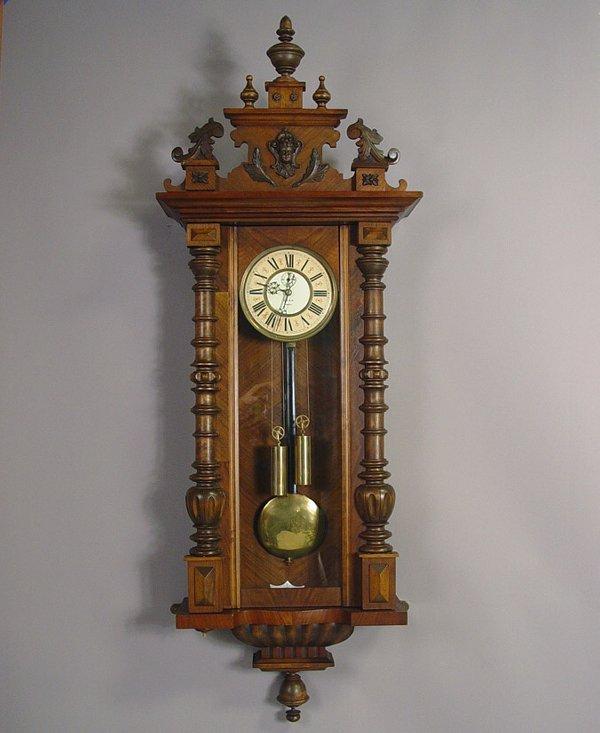 2 Gustav Becker Antique Regulator Wall Clock