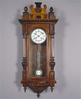 German Antique Regulator Wall Clock