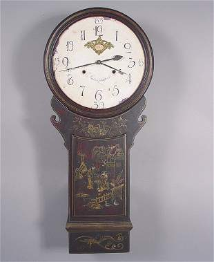 Timeworks, Japanned Wall Clock repro