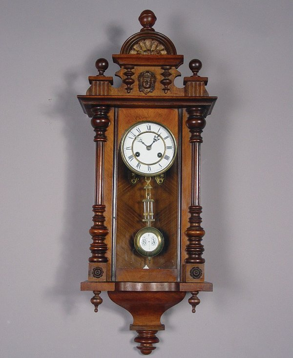12: Junghans Antique Regulator Wall Clock