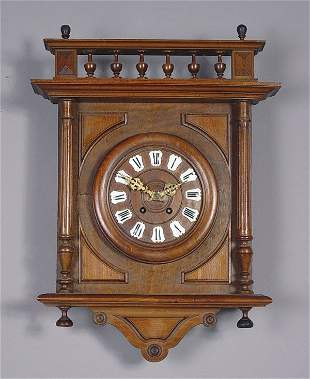 Antique French Carved Wall Clock