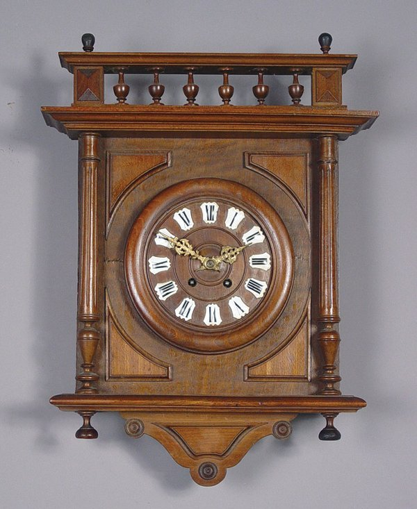 13: Antique French Carved Wall Clock