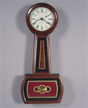 Boston Clock Co Antique Banjo Wall Clock