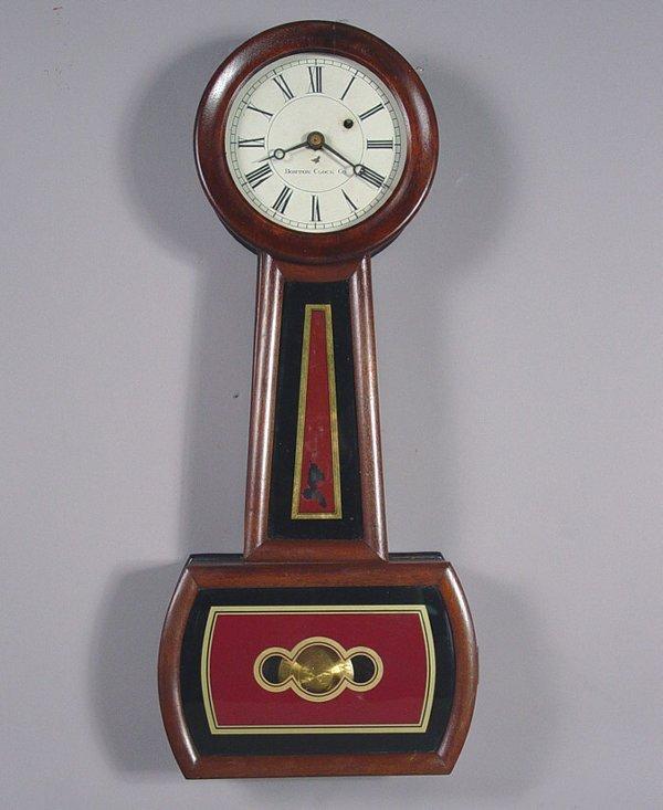 15: Boston Clock Co Antique Banjo Wall Clock