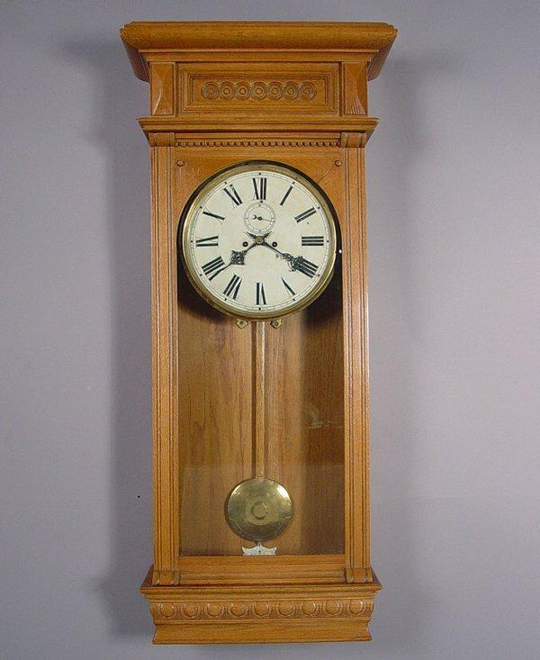 18: Large Waterbury Antique Wall Clock