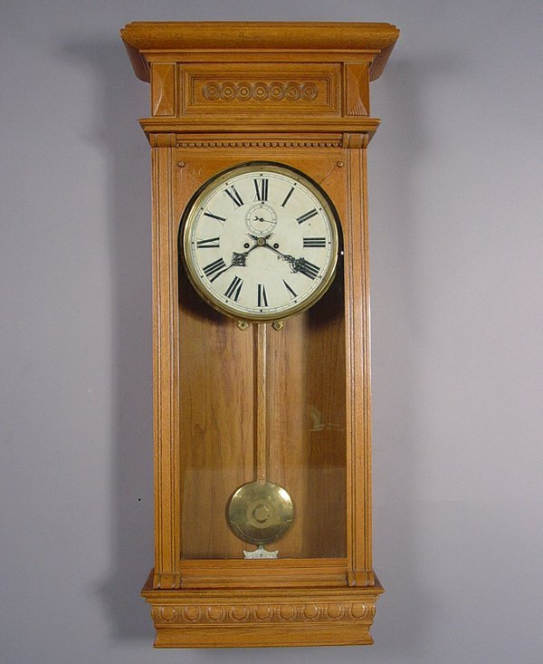 18: Large Waterbury Antique Wall Clock