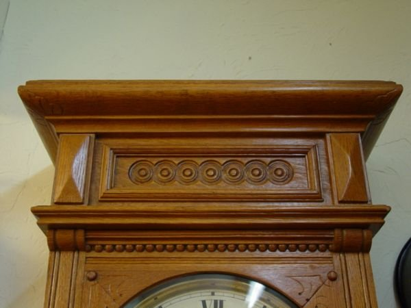 18: Large Waterbury Antique Wall Clock - 3