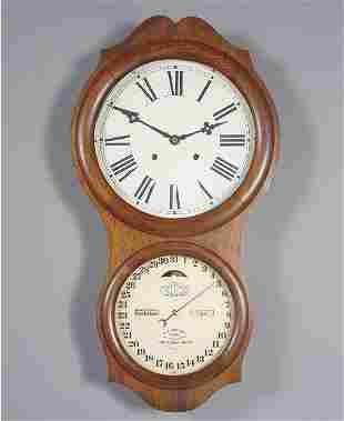 Ithaca Double Dial Calendar Clock
