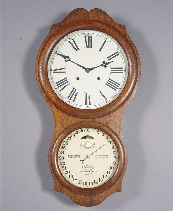 19: Ithaca Double Dial Calendar Clock