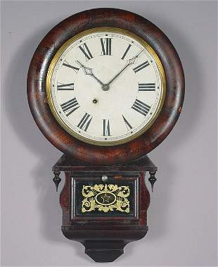 Ansonia Antique Rosewood Wall Clock