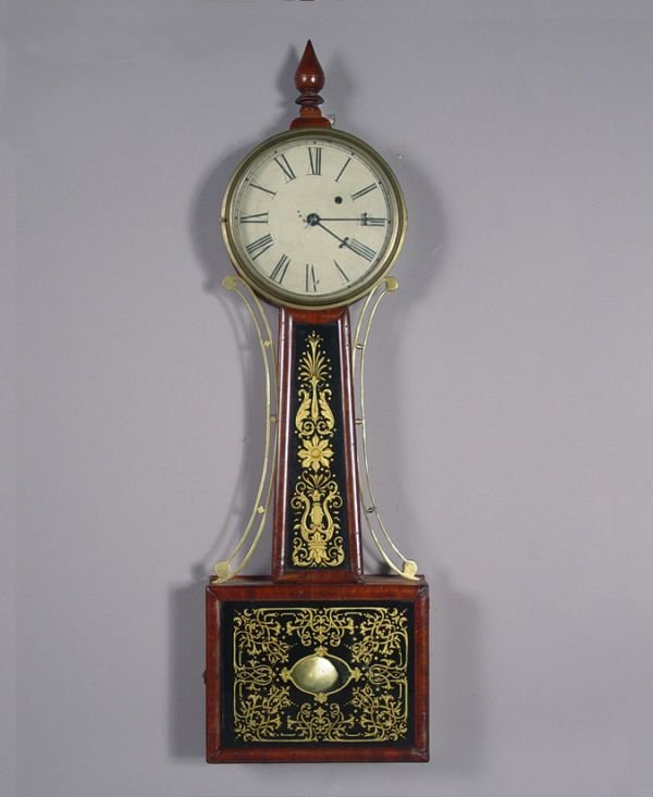 21: Antique Banjo Wall Clock ca. 1825