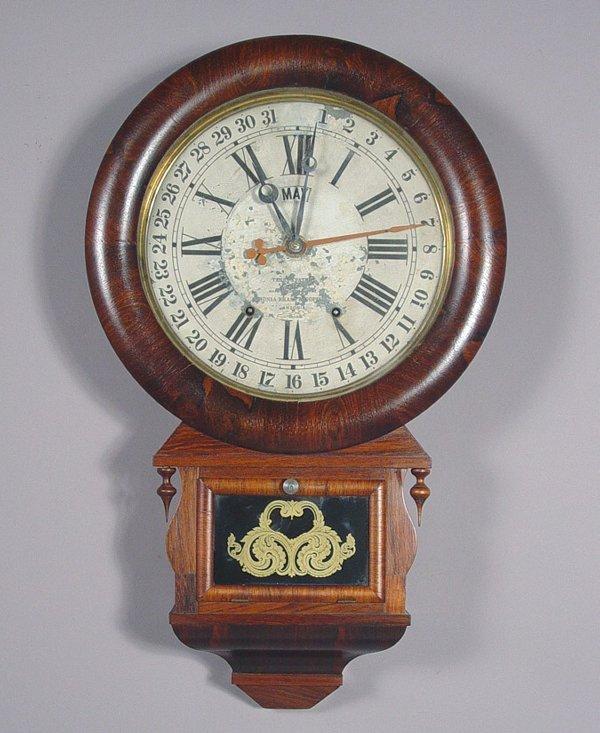 22: Rare Ansonia Antique Calendar Wall Clock