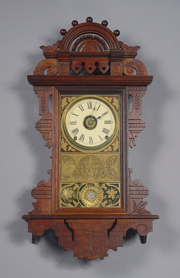 24: Seth Thomas Antique Wall Clock Eclipse