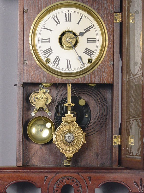 24: Seth Thomas Antique Wall Clock Eclipse - 2