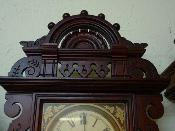 24: Seth Thomas Antique Wall Clock Eclipse - 4