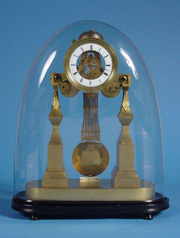 221: Antique Large 2 Fusee Skeleton Clock