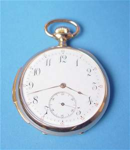271: Bayer 18K  Minute Repeat Pocket Watch