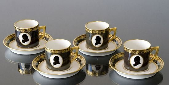 A LIMITED EDITION ROYAL COPENHAGEN COLONIAL COFFEE SET - 4