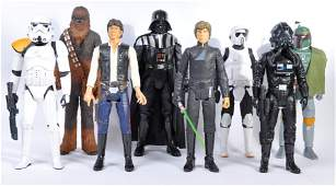 A collection of 8x Star Wars officially licensed 1/4