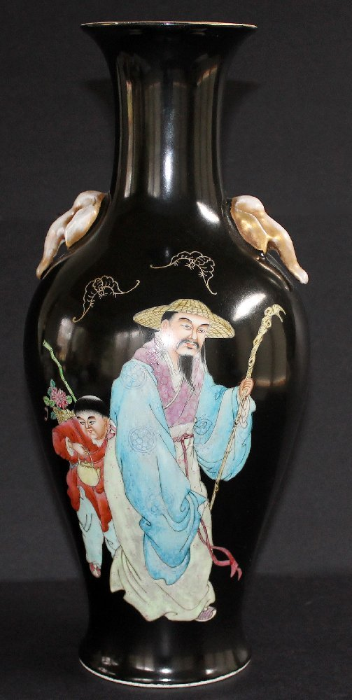 Large, Rare Chinese Famille Rose Vase Qianlong Mk