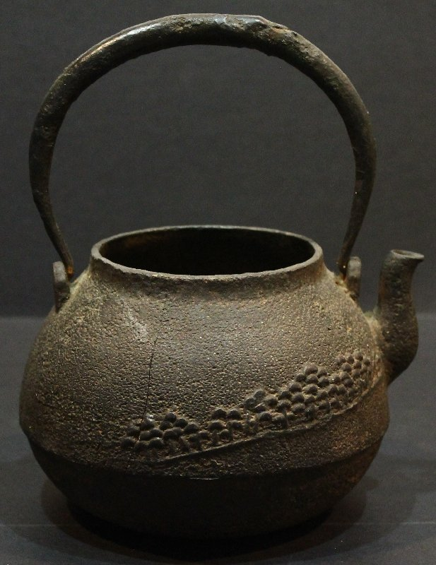 Antique Japanese Iron Teapot Signed
