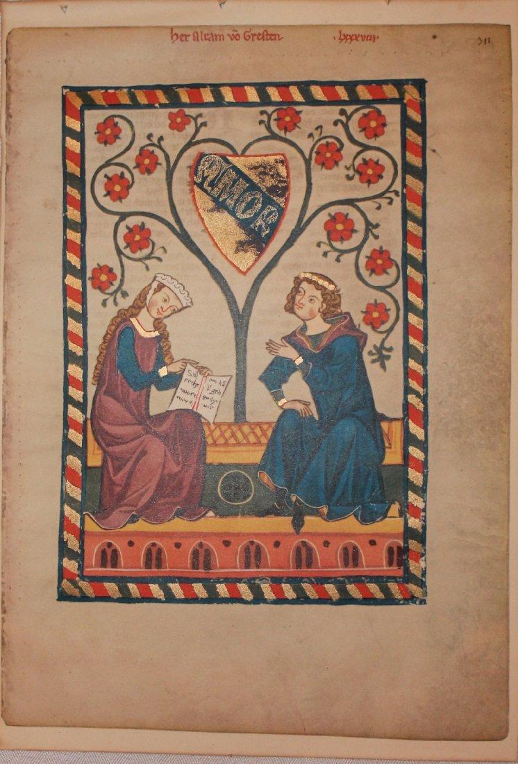 Illuminated Manuscript Facsimile Alram von Gresten