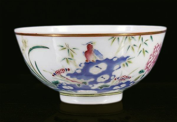 Good Quality Chinese Porcelain Bowl, marked Guangxu