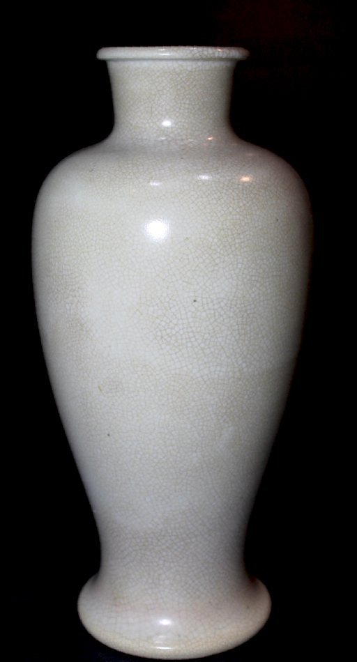 Old Chinese Ge-type Geyao Off-White Glaze Meiping Vase