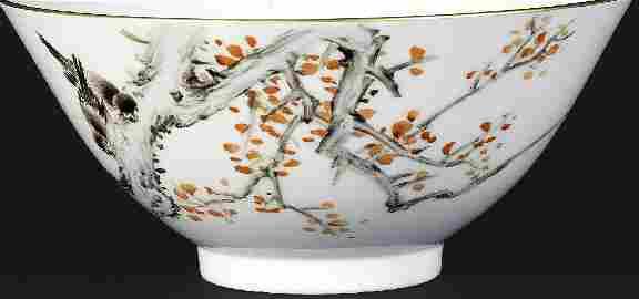 Beautiful Chinese Republic Style Bowl Tongzhi Mark