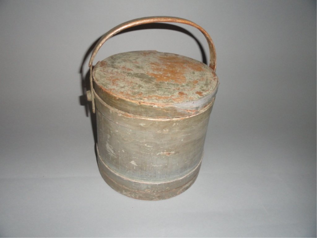 Blue / Grey Painted Firkins Bucket