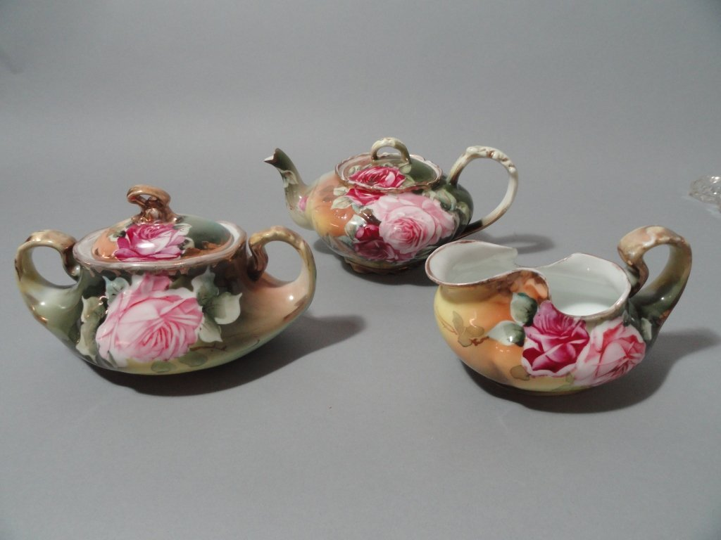 Hand Painted Antique Nippon Tea Set