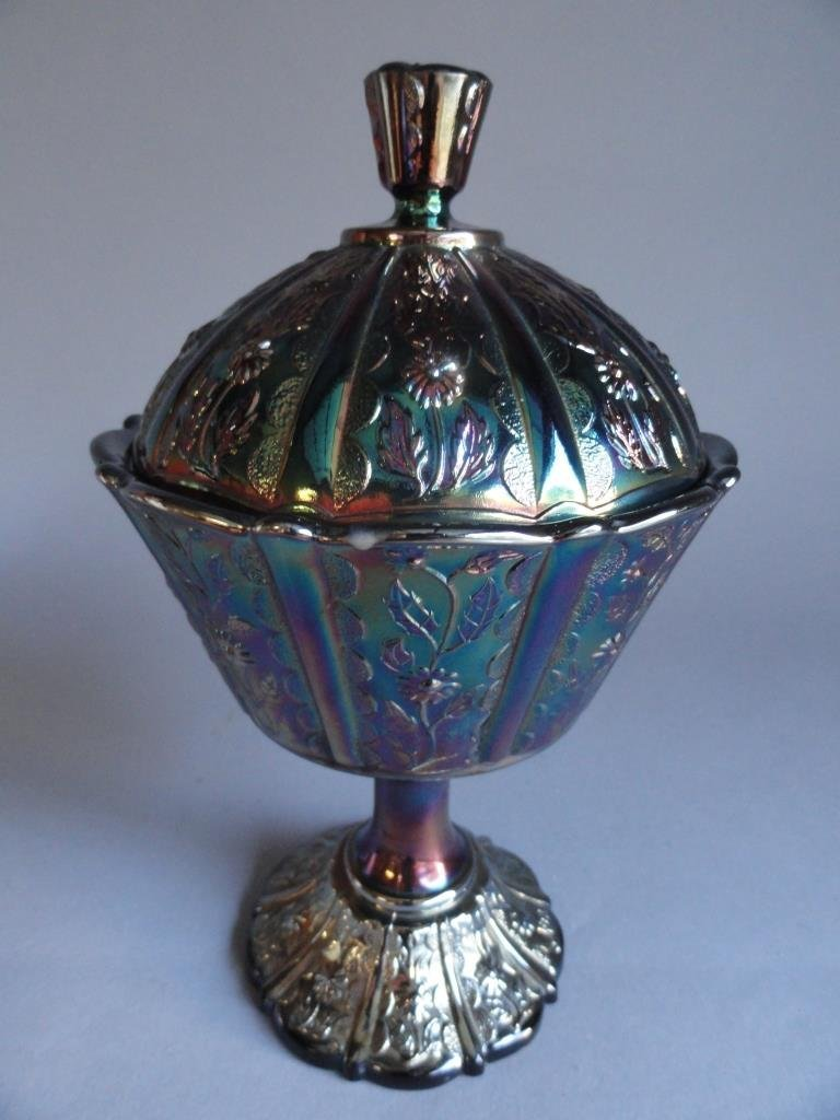 Iridescent Fenton Carnival Glass Candy dish