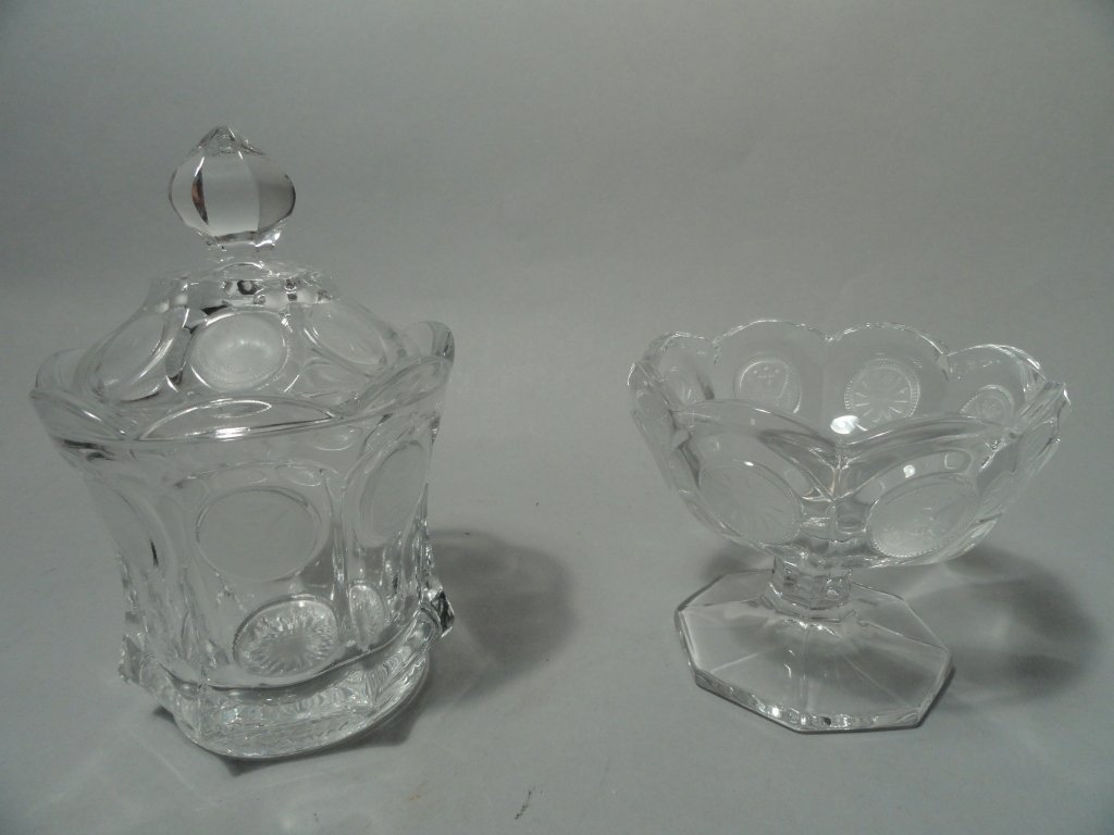 Fostoria Coin Glass Bowl and Candy Dish