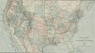 Political Map of U.S. Framed