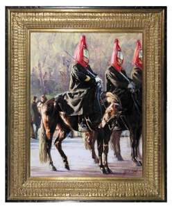 """1036: John Cook, """"The Queen's Guard"""", Signed"""