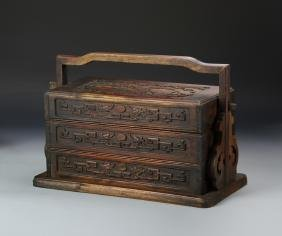Chinese Hardwood Lunch Box