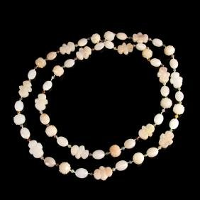 Chinese Agate and Furlong Necklace