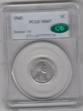One Cent Silver Coin