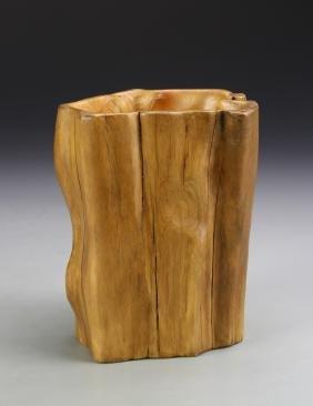Chinese Boxwood Brush Pot