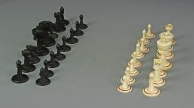 Bone And Hardwood Chess Set