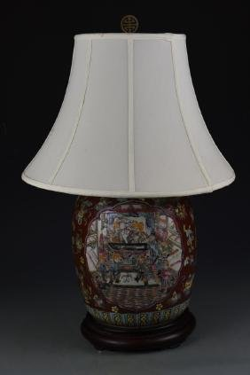 China Famille Rose Vase Lamp