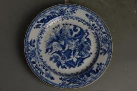 Chinese Two Export Blue and White Plates
