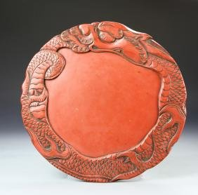 Chinese Lacquer Ink Stone Pad