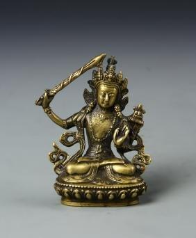 Chinese Brass Buddha