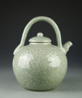 Chinese Celadon Glazed Teapot